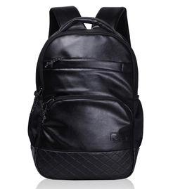 Luxur Black 25 liter Laptop Backpack