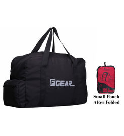 F Gear Voyager Foldable 55 litersTravel Duffle Bag(Black Red)