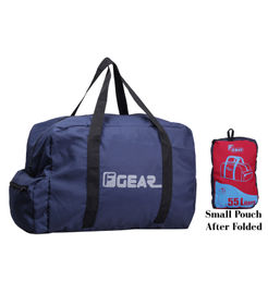 F Gear Voyager Foldable 55 litersTravel Duffle Bag(Blue Red)