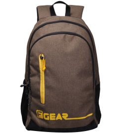 F Gear Bi Frost Denim Khaki Yellow 28 Liter Laptop Backpack