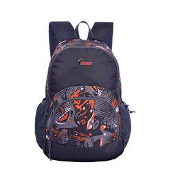 F Gear Bravo 27 Liter Orange, Grey Laptop Backpack
