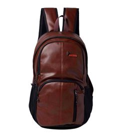 F Gear Tandrum V2 Leather 28 Liters Laptop Backpack Sch Bag(Brown)