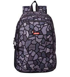 F Gear Castle V2 Printed Grey 27 Liters Backpack Sch Bag