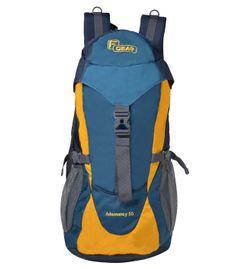 F Gear Super Tramp Navy Blue, Yellow 34 Liters Trekking Backpack
