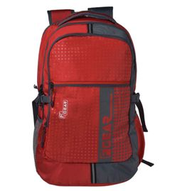 F Gear Blow Laptop Backpack With Rain Cover 32 Liters (Red,Grey) Sch Bag