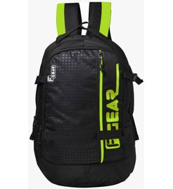 F Gear Boshida Laptop Backpack With Rain Cover 31 Liters (Black, Green) Sch Bag