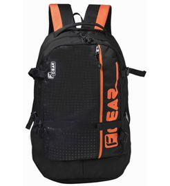 F Gear Boshida Laptop Backpack With Rain Cover 31 Liters (Black, Orange) Sch Bag