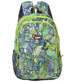 F Gear Castle Printed P2 Green 27 Liters Backpack Sch Bag