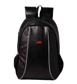 F Gear Carlton V2 Leather 27 Liters Laptop Backpack Sch Bag(Black)