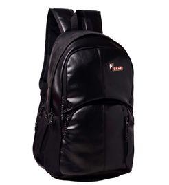 F Gear Tandrum V2 Leather 28 Liters Laptop Backpack Sch Bag(Black)