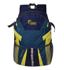 F Gear Britain 27 Liters Laptop Backpack Sch Bag(Blue,Yellow)