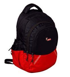 F Gear Vega 27 Liter Black, Red Laptop Backpack