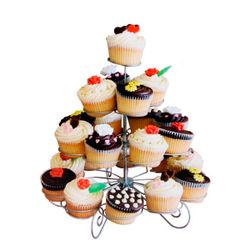 Metal 4 tier cup cake stand For 23 Cupcake Holder