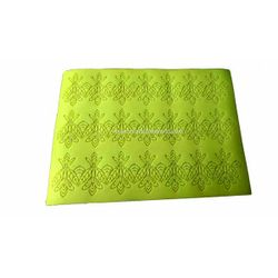 Big Green Leaves & Flowers Silicone  Lace  Mat