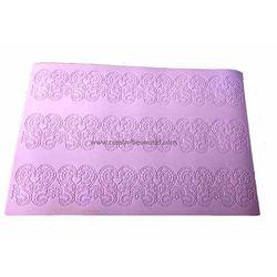 Big Violet Heart Sugar Lace Mat