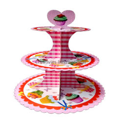 ICE CREAM PINK CARDBOARD CUP CAKE STAND