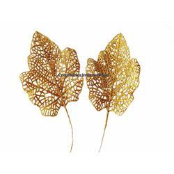 GOLDEN GLITTER LEAVES