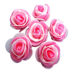 PINK & WHITE DOUBLE SHADED FOAM FLOWERS(BIG)