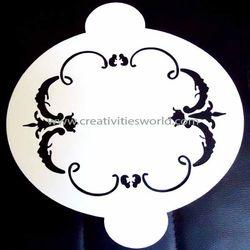 Designer Round Cake Stencil
