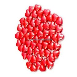 Red Glimmer Sugar hearts(1mm)