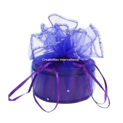 Purple Round Metallic Boxes