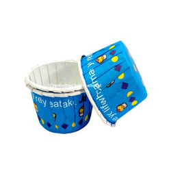 Ice-Cream Design Blue  Cup Cake Liner (Medium) - Ready To Bake