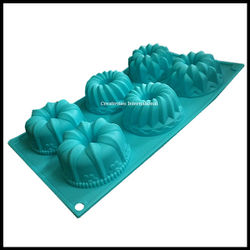 Designer Donuts shape brownie silicone mould