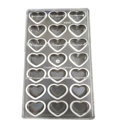 Small Heart Shape Polycarbonate Chocolate Mold