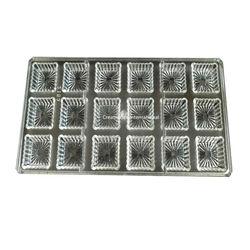 Designer Square Polycarbonate Chocolate Mold Type 2