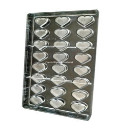 Designer Heart Shape Polycarbonate chocolate mold - 1