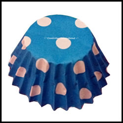 Chocolate Liners Blue Base Polka Dots_6 cm