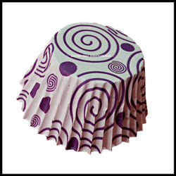 Chocolate Liners Purple Swirl Design_7 cm