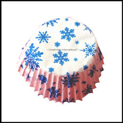 Chocolate Liners Blue Snowflakes Design _8 cm