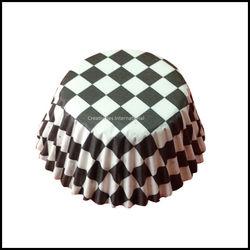 Chocolate Liners Black Checker Board_9 cm