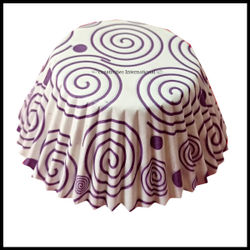 Cupcake Liners Purple Swirl Design_10 cm