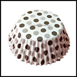 Cupcake Liners Black Base Polka Dots_11 cm