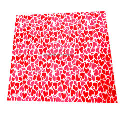 Red & Pink Heart transfer sheets