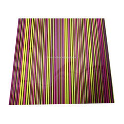 Pink & Yellow Lines Chocolate sheet