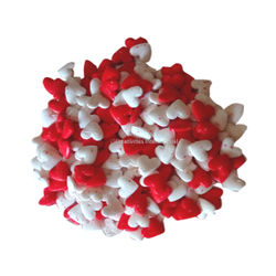 Edible confetti Red White Sugar Heart