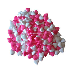 Edible confetti Pink White Sugar Heart