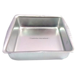 Square Cake Mould (6.5 INCH*6.5 INCH*2 INCH) MEDIUM SIZE