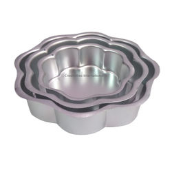 Flower Cake Mould (Set of 3)
