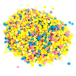 Colorful confetti shapes CupCake Sprinkles (4mm)