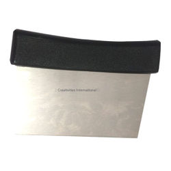 Stainless steel Scrappers with black handle