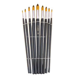 Professional Cake artist brush sets of 9 Pointed tips