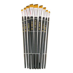 Professional Cakes artist brush  sets of 9 Flat tips