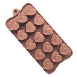 Designer Silicone Heart Chocolate Mold