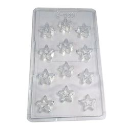 Double Star Shape Chocolate Mold