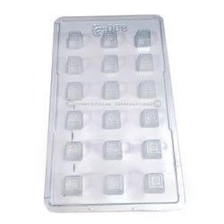 Designer Square Texture Chocolate Mould