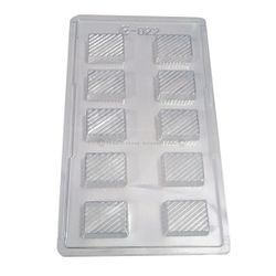Designer Rectangle shape with Pattern chocolate Mold